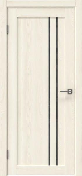 Межкомнатная дверь RM023 (экошпон «ясень крем» / лакобель серый)