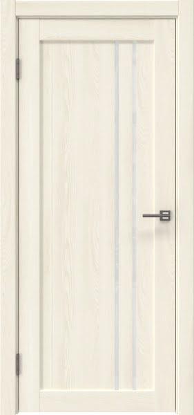 Межкомнатная дверь RM023 (экошпон «ясень крем» / лакобель белый)