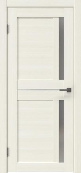 Межкомнатная дверь RM024 (экошпон «сандал белый» / матовое стекло)