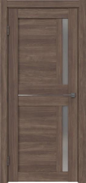 Межкомнатная дверь RM024 (экошпон «античный орех» / матовое стекло)