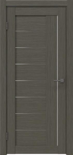 Межкомнатная дверь RM025 (экошпон «грей мелинга» / матовое стекло)