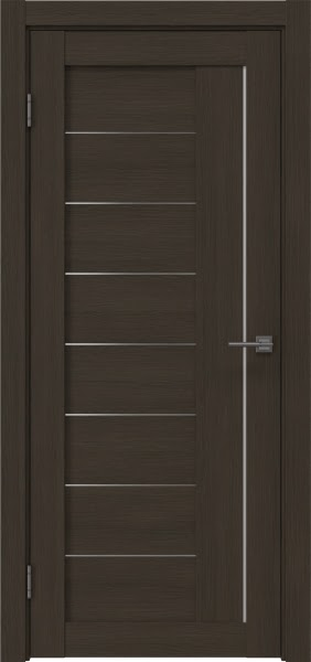 Межкомнатная дверь RM025 (экошпон «мокко» / матовое стекло)