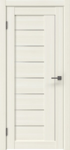 Межкомнатная дверь RM025 (экошпон «сандал белый» / матовое стекло)