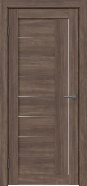 Межкомнатная дверь RM025 (экошпон «античный орех» / матовое стекло)