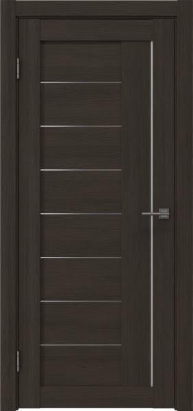 Межкомнатная дверь RM025 (экошпон «венге мелинга» / матовое стекло)