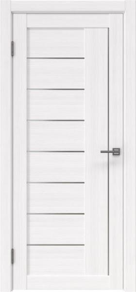 Межкомнатная дверь RM025 (экошпон «белый FL», матовое стекло)