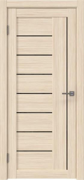 Межкомнатная дверь RM025 (экошпон «беленый дуб FL», лакобель черный)