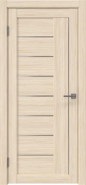Межкомнатная дверь RM025 (экошпон «беленый дуб FL», матовое стекло)