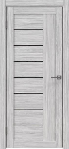 Межкомнатная дверь RM025 (экошпон «серый дуб FL», лакобель черный)