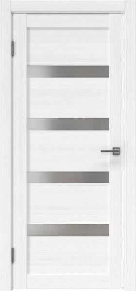 Межкомнатная дверь RM027 (экошпон «белый FL», матовое стекло)