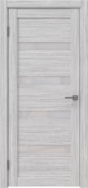 Межкомнатная дверь RM027 (экошпон «серый дуб FL», лакобель белый)