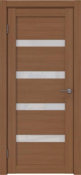 Межкомнатная дверь RM027 (экошпон «орех FL», лакобель белый)