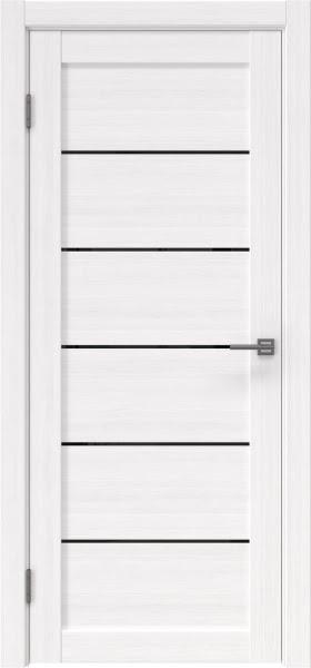 Межкомнатная дверь RM028 (экошпон «белый FL», лакобель черный)