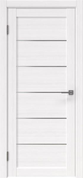 Межкомнатная дверь RM028 (экошпон «белый FL», матовое стекло)