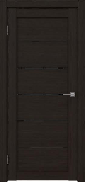 Межкомнатная дверь RM028 (экошпон «венге FL», лакобель черный)