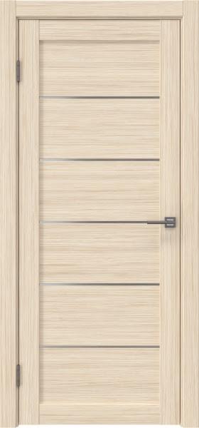 Межкомнатная дверь RM028 (экошпон «беленый дуб FL», матовое стекло)