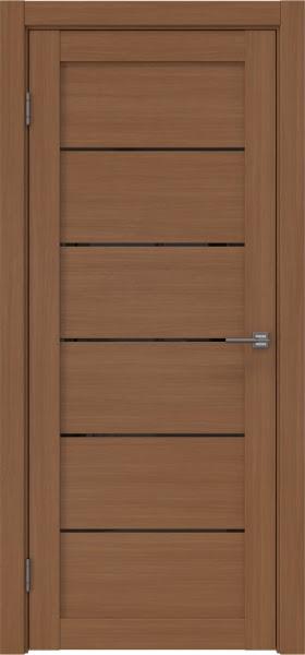 Межкомнатная дверь RM028 (экошпон «орех FL», лакобель черный)