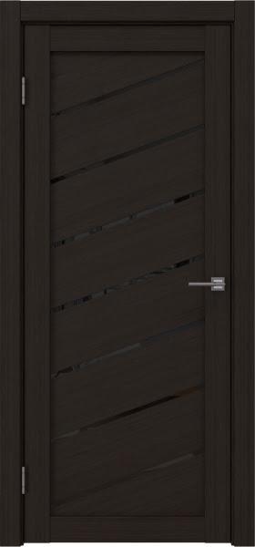 Межкомнатная дверь RM029 (экошпон «венге FL», лакобель черный)