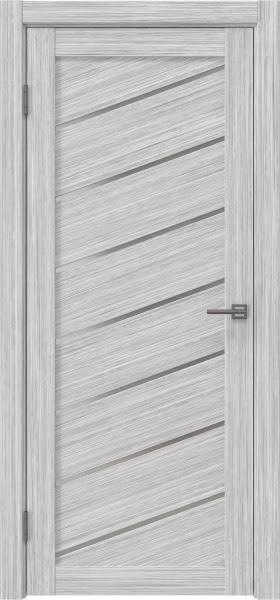 Межкомнатная дверь RM029 (экошпон «серый дуб FL», матовое стекло)