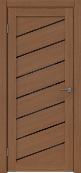 Межкомнатная дверь RM029 (экошпон «орех FL», лакобель черный)