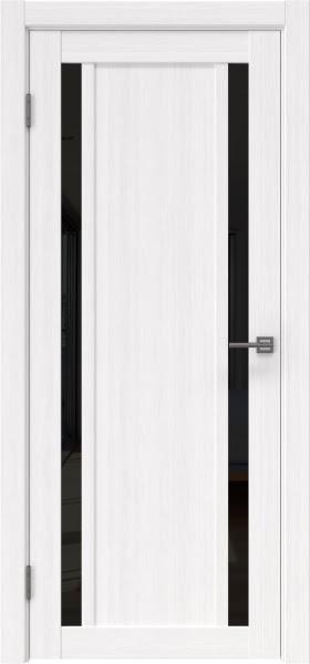 Межкомнатная дверь RM031 (экошпон «белый FL», лакобель черный)