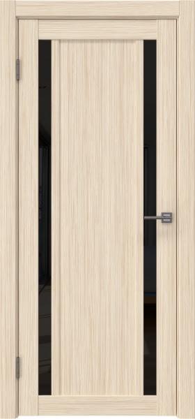 Межкомнатная дверь RM031 (экошпон «беленый дуб FL», лакобель черный)