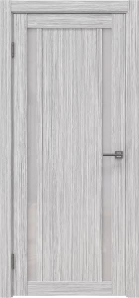 Межкомнатная дверь RM031 (экошпон «серый дуб FL», лакобель белый)
