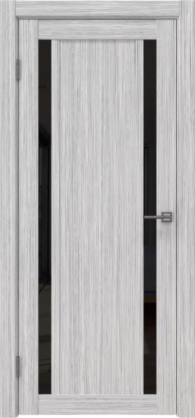 Межкомнатная дверь RM031 (экошпон «серый дуб FL», лакобель черный)