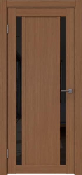 Межкомнатная дверь RM031 (экошпон «орех FL», лакобель черный)