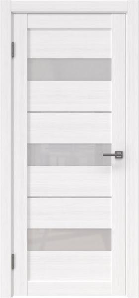 Межкомнатная дверь RM034 (экошпон «белый FL», лакобель белый)