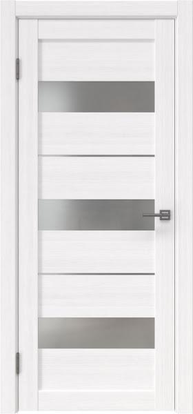Межкомнатная дверь RM034 (экошпон «белый FL», матовое стекло)