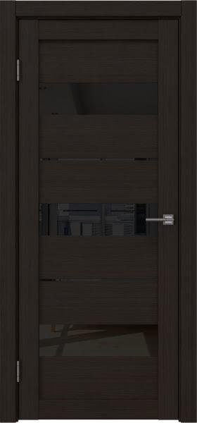 Межкомнатная дверь RM034 (экошпон «венге FL», лакобель черный)