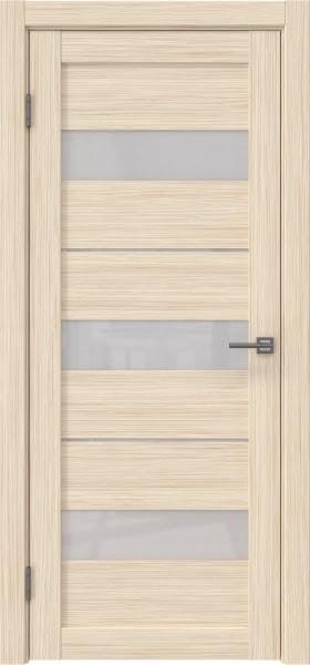 Межкомнатная дверь RM034 (экошпон «беленый дуб FL», лакобель белый)