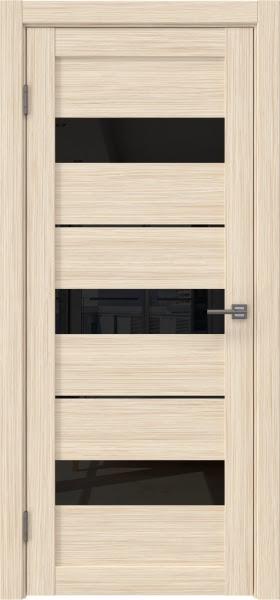 Межкомнатная дверь RM034 (экошпон «беленый дуб FL», лакобель черный)