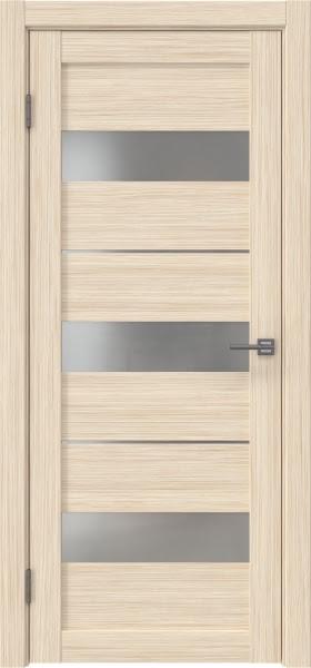 Межкомнатная дверь RM034 (экошпон «беленый дуб FL», матовое стекло)