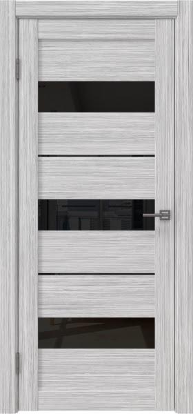 Межкомнатная дверь RM034 (экошпон «серый дуб FL», лакобель черный)