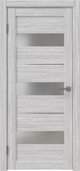 Межкомнатная дверь RM034 (экошпон «серый дуб FL», матовое стекло)
