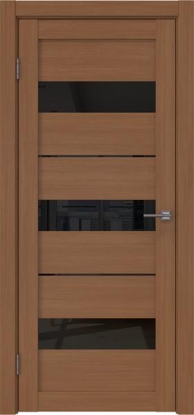 Межкомнатная дверь RM034 (экошпон «орех FL», лакобель черный)