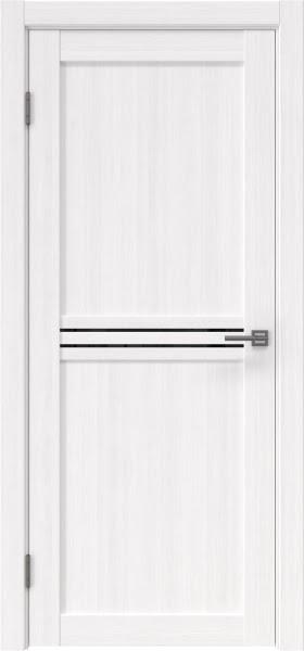 Межкомнатная дверь RM035 (экошпон «белый FL», лакобель черный)