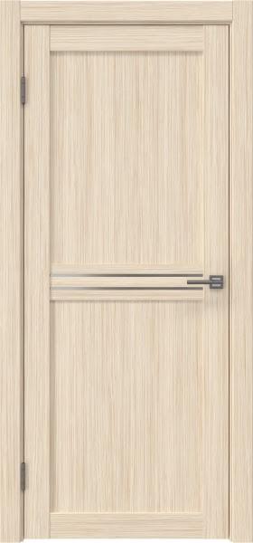 Межкомнатная дверь RM035 (экошпон «беленый дуб FL», матовое стекло)