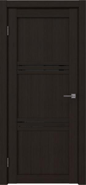 Межкомнатная дверь RM036 (экошпон «венге FL», лакобель черный)