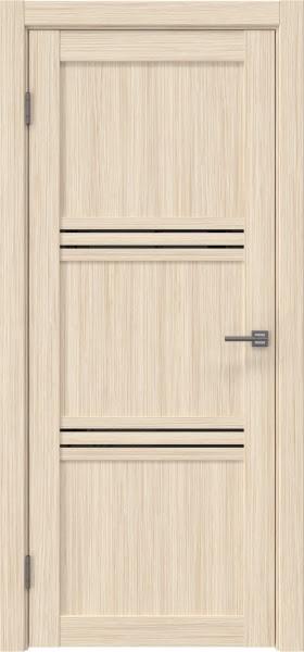 Межкомнатная дверь RM036 (экошпон «беленый дуб FL», лакобель черный)