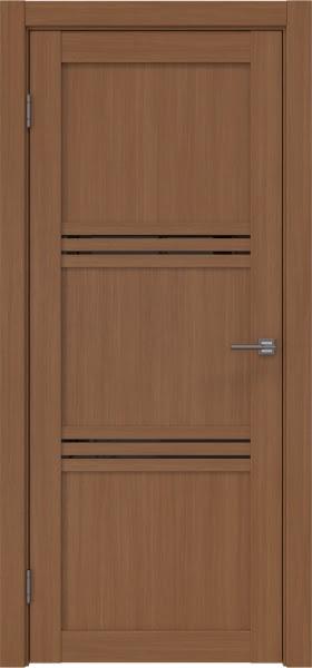 Межкомнатная дверь RM036 (экошпон «орех FL», лакобель черный)