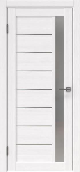 Межкомнатная дверь RM037 (экошпон «белый FL», матовое стекло)