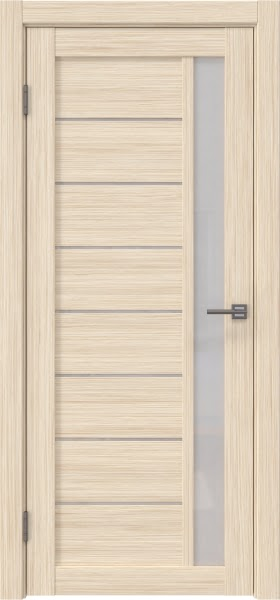 Межкомнатная дверь RM037 (экошпон «беленый дуб FL», лакобель белый)