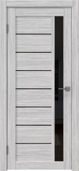 Межкомнатная дверь RM037 (экошпон «серый дуб FL», лакобель черный)