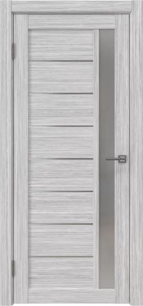 Межкомнатная дверь RM037 (экошпон «серый дуб FL», матовое стекло)