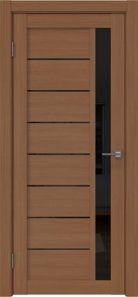 Межкомнатная дверь RM037 (экошпон «орех FL», лакобель черный)