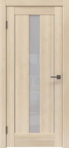 Межкомнатная дверь RM043 (экошпон «капучино мелинга» / лакобель белый)