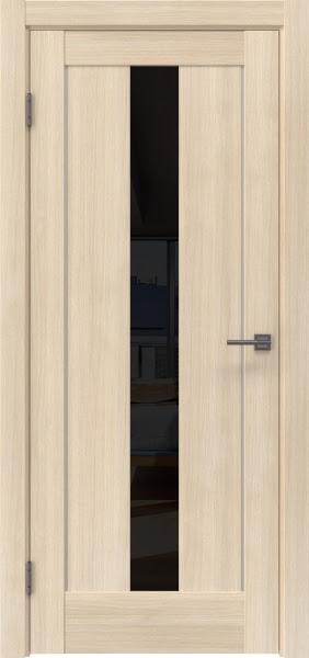 Межкомнатная дверь RM043 (экошпон «капучино мелинга» / лакобель черный)